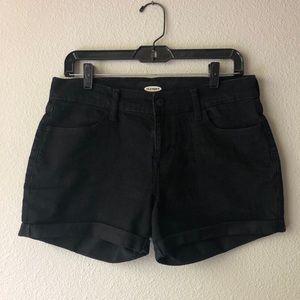 Old Navy Black Denim Shorts